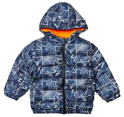 **Boys Navy Robot Padded Jacket (18 months - 6 years)