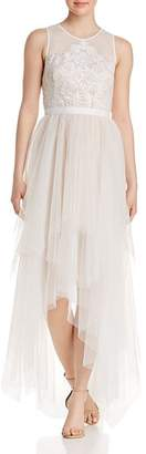 BCBGMAXAZRIA Illusion Tulle Dress
