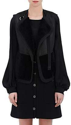 Chloé Women's Shearling & Leather Reversible Vest - Black