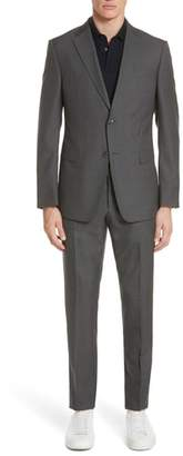 Ermenegildo Zegna Trim Fit Houndstooth Wool & Silk Suit
