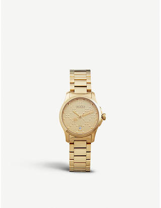 Gucci YA126553 G Timeless gold-plated stainless steel watch