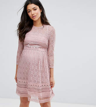 Asos PREMIUM Lace Skater mini dress