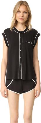 Calvin Klein Underwear Translucent PJ Set $78 thestylecure.com