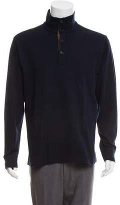 Ralph Lauren Purple Label Silk-Blend Mock Neck Sweater