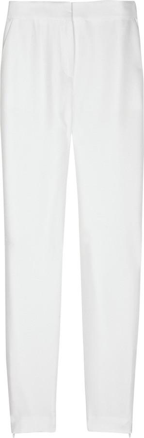 Stella McCartney Classic slub-silk skinny pants
