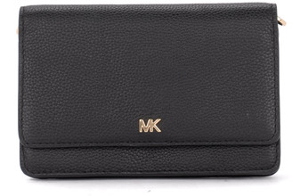 Michael Kors Mercer Black Leather Pochette With Shoulder Strap.
