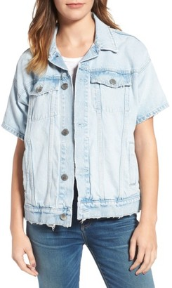 Women's Current/elliot The Rolled Sleeve Trucker Denim Jacket $338 thestylecure.com