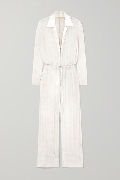 Nevada Beaded Silk-chiffon Jumpsuit - White