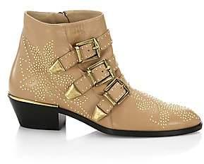 Chloé Women's Susanna Studded Leather Ankle Boots