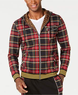 INC International Concepts Inc Men Plaid Zip-Front Hoodie