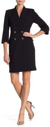 Modern American Designer Collared Button Down Coat Dress