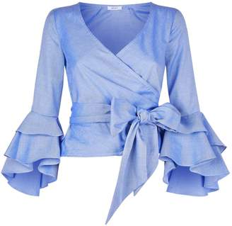 Milly Bea Ruffle Blouse