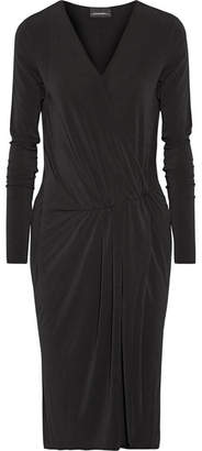 By Malene Birger Willos Wrap-effect Stretch-crepe Dress - Black