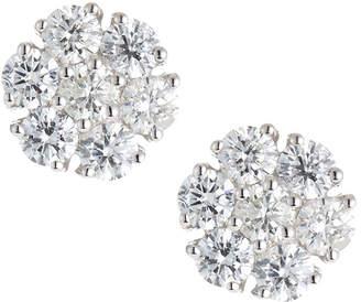 Neiman Marcus Diamonds 18k Diamond Cluster Stud Earrings