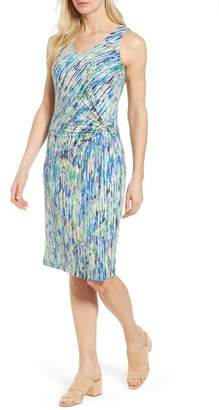 Nic+Zoe Mirage Print Side Twist Dress