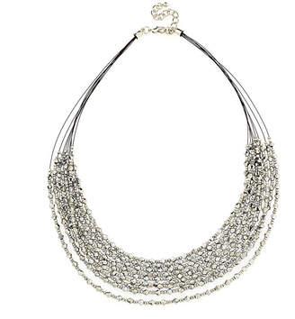 BIJOUX BAR Bijoux Bar Womens Gray Beaded Necklace
