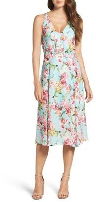 Women's Adelyn Rae Print Midi Dress $147 thestylecure.com