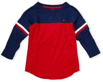 Tommy Hilfiger Girls 7-16) Color Block Three-Quarter Tee