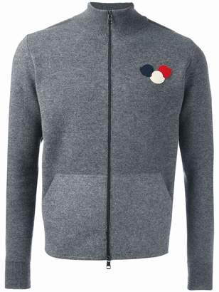 Moncler logo plaque knit cardigan