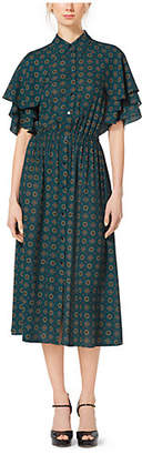 Michael Kors Foulard Silk-Georgette Shirtdress