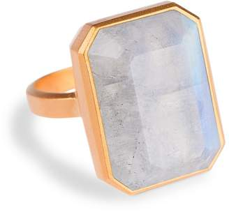 Ringly Aries Activity Tracker Smart Ring in Moonstone $165 thestylecure.com