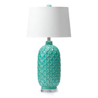 Webster Temple & Aqua Blue Table Lamp