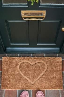Next XL Heart Embossed Doormat