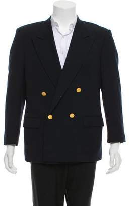Valentino Double-Breasted Virgin Wool Blazer