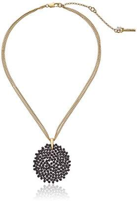 Kenneth Cole New York Woven Faceted Bead Round Pendant Necklace