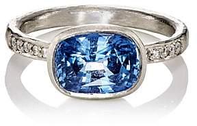 Malcolm Betts Women's White Diamond & Blue Sapphire Ring