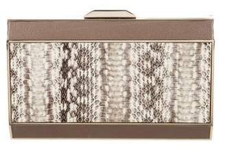 Anya Hindmarch Leather & Python Clutch