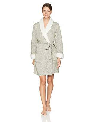 Arabella Women's Sweater Fleck Shawl Collar Wrap Robe