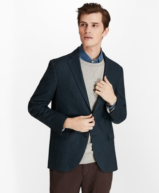 Brooks Brothers Two-Button Wool-Blend Herringbone Sport Coat
