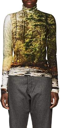 R 13 Women's Forest-Print Turtleneck Top