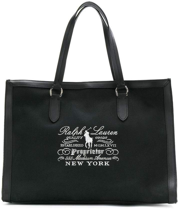 Ralph Lauren embroidered tote bag