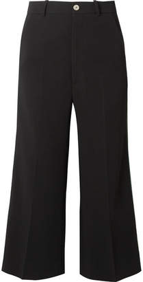 Gucci Striped Cady Wide-leg Pants - Black