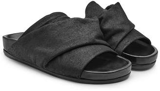 Rick Owens Leather Open Toe Sandals