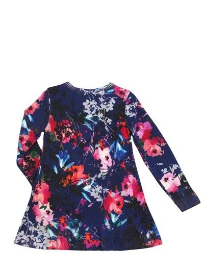 Simonetta Floral Printed Wool Sweater Dress