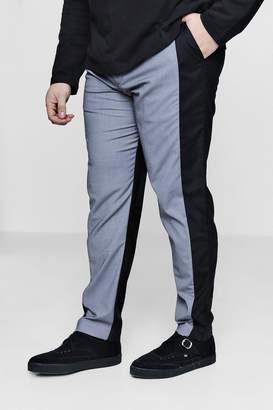 boohoo Big And Tall Two Tone Tapered Trousers