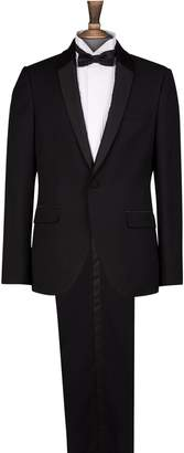 Burton Mens Shawl Collar Slim Fit Tuxedo Suit Jacket