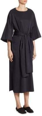 The Row Dalun Bell-Sleeve Midi Dress