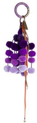 Nannacay Multicolor Pom-Pom Keychain