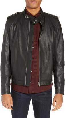 HUGO Lector Slim Leather Jacket