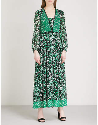 Claudie Pierlot Floral-print crepe dress