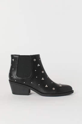 H&M Boots with Studs - Black