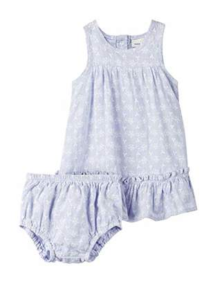 Name It Baby Girls' NBFFAIRY Spencer W. Brief Clothing Set, Blau Skyway, ((Size: 80)