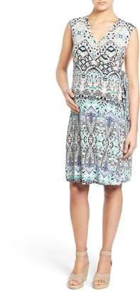 Tart Maternity 'Charmaine' Print Jersey Maternity Wrap Dress