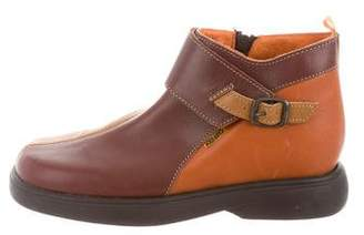 Kenzo Boys' Leather Square-Toe Boots