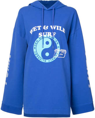 FENTY PUMA by Rihanna long sleeve gathered hoodie