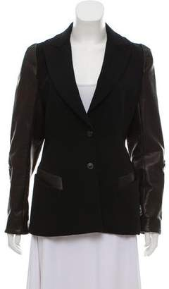 Todd Lynn Peak-Lapel Leather Jacket